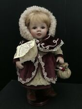 """Adele's Puppenhaus """"Felizia"""" Porcelain German Doll with stand - No. 447/1000"""