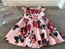 Joules Girls Party Dress, In Raspberry Pink Floral, Age 5 Years - Brand New
