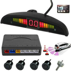 Radar De Recul 4 Capteurs Noir Voiture Beeper LCD Alarm Parking Sensor