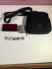 Nintendo 3DS (Flame Red) 2GB SD Card + Charger + Case + 5 Games