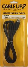 """CABLE UP BY TASCAM - 3' BLACK MIDI AUDIO PATCH CABLE """"NEW IN BOX"""""""