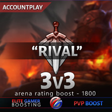 WOW Arena Boost 3vs3 0 - 1800 rating/World of Warcraft accountplay