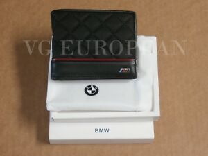 BMW Genuine M Power Red And Black Bi Fold Cross Stitched Wallet