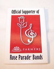 'Official Supporter of Rose Parade Bands' BUTTON, marching band, BOA, FREE SHIP!