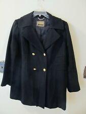 GUESS Women's Size 2X Black Military Style Wool Blend Dress Coat Jacket