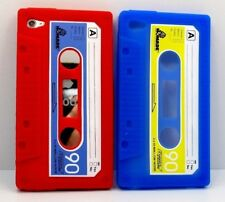2x bulk for iPod touch 4th 4 th gen itouch cassette tape blue red rubber case