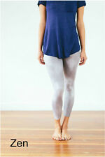 Leggings Super Soft ONE SIZE OS ( ZEN ) Silver Buttery Soft Ooh La Leggings