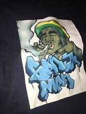 Ganja Man T Shirt Dark Blue Weed Size 2xl