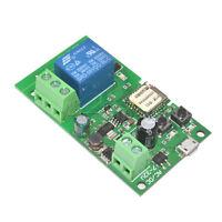 Wireless Sonoff WiFi Smart Switch Home Relay Module 5V-32V Self-locking