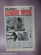 #T107. RUGBY LEAGUE WEEK NEWSPAPER  13/8 1977,  PENRITH & EASTS CENTRE
