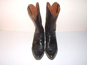 Lucchese Boots, Hand Made, Men's 11.50 D, Kangaroo Vamp, Goat Shaft  Color Black