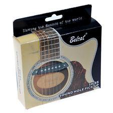White SH-85WH Belcat Soundhole Pick-up w/Active Power Jack For Acoustic Guitar