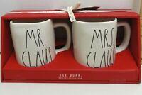 Rae Dunn Mr.Claus & Mrs.Claus Mug Set NEW