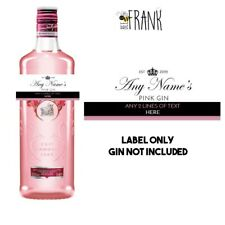 Funny/cute/rude/banter PINK GIN LABEL/Personalised present. Birthday/Anniversary