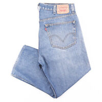 Vintage LEVI'S 505 Blue Denim Regular Straight Jeans Mens W38 L25