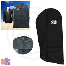 "Breathable Black Suit Cover Garment Clothes Travel Protector Zip Bag 40"" UKED"