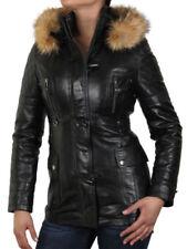 Manteaux et vestes noirs en cuir pour femme Taille 50