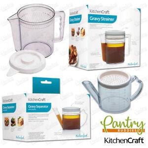 Kitchen Craft Gravy / Fat Separator and Measuring Jug - 500ml / 1.5 litre