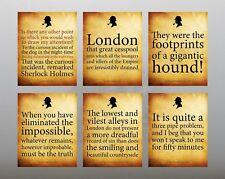 Sherlock Holmes citas, Conjunto de 6 impresiones a color 8x6, etc. gigantesco Hound