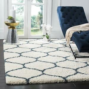 Hand tufted Soft Shaggy Living Dining Bed Room Rug Carpet 4 x 6 feet
