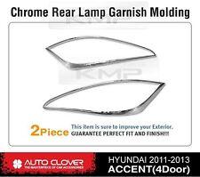 Taillight Lamp Chrome Garnish Molding B724 For HYUNDAI 2011-2016 Accent Verna
