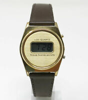 Orologio Texas Instruments lcd quartz vintage digital watch rare clock texas
