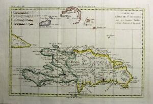 1781 Bonne Map of Haiti & Dominican Republic