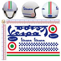 Vespa adesivi casco pvc blu italia flag sticker blue helmet cropped 11 pz.