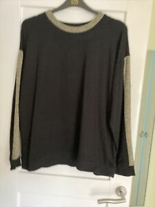Ladies Tu Black & Gold Jumper Size 18 New Without Tags