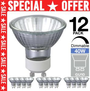 12x GU10 Halogen Light Bulbs 40w = 50w 240V Dimmable Bulb - Reduced Price