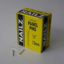 Nailz Bright Panel Pins 13mm 1/2inch 30g Box Made In England