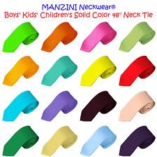 NYFASHION101® Manzini Neckwear® Boys' Kids' Children's Solid Color 48