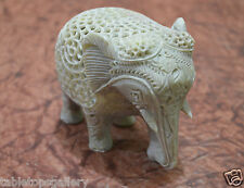 "5"" Marble Stone Handmade Elephant Statue Hand Carving Art Work Decor Gifts H657"