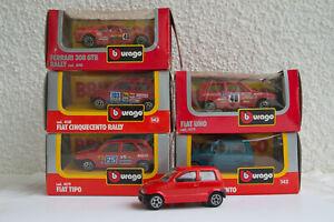Konvolut Modellautos 1:43 BBurago 5 Stück Fiat + Ferrari OVP