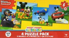 Disney Mickey Mouse ClubHouse Puzzles-4 Puzzle Pack Set (6 Piece Puzzles)