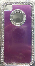 NEW! Light Purple  Bling  Rhinestone Aluminium Case Cover For iPhone 4 4S 4G