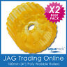"""2 x 100mm 4"""" SOLID POLYURETHANE BOAT TRAILER NON_MARKING YELLOW WOBBLE ROLLERS"""