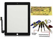 iPad 4 Display Scheibe Front Glas Touchscreen Digitizer +Kleber Werkzeug Schwarz