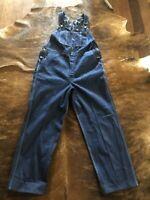 Dickies Mens Carpenter Bib Overalls Coverall Work Jean Blue Denim Cotton 40x30
