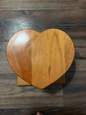 Berea College Handmade Wood Heart Quilt Hanger