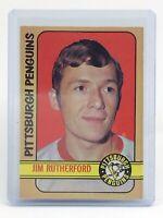1972-73 Jim Rutherford Pittsburgh Penguins #15 OPC O-Pee-Chee Hockey Card I672