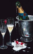 "**Michael Godard-""CHAMPAGNE TANGO""-Strawberry-Dancing-Love-Wedding-Art-AP*RARE*"