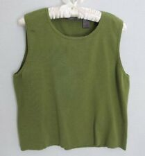 Liz Claiborne olive green silk blend sleeveless sweater *Sz XL*