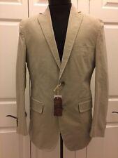 NWT BLUE by PRONTO UOMO Sport Jacket Blazer Size M Medium 2 Button Gray Beige