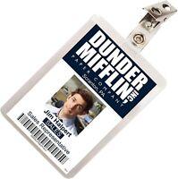 The Office Jim Halpert Dunder Mifflin ID Badge Cosplay Costume Name Tag TO-4
