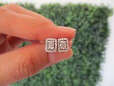 2.00 Carat Face Illusion Diamond White Gold Earrings 18k sep
