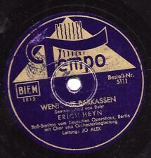 Erich Heyn  mit Jo Alex 1940   Wenn die Barkassen..Seemannslied: