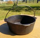 Vintage Griswold Wagner Ware Dual Logo Cast Iron 5 Qt Dutch Oven USA MADE NO LID