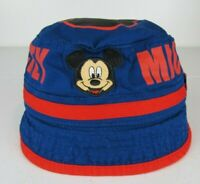 Walt Disney World Mickey Mouse Baby Bucket Hat Toddler Size Small Blue and Red