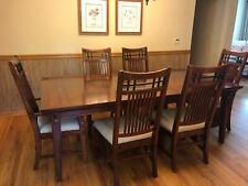 Vantana Broyhill Wood Dining Room Table Set w. 6 Chairs & Leaf